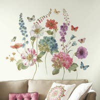 Roommates Lisa Audit Garden Flowers Peel and Stick Giant Wall Decals