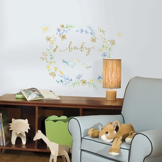 Kathy Davis Bird Wreath Peel-and-Stick Giant Wall Decals