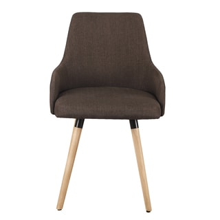 Adeco Fabric Accent Wood Leg Leisure Chair