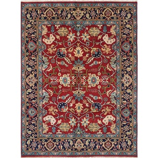 ecarpetgallery Hand-knotted Serapi Heritage Red Wool Rug (7'5 x 9'10)