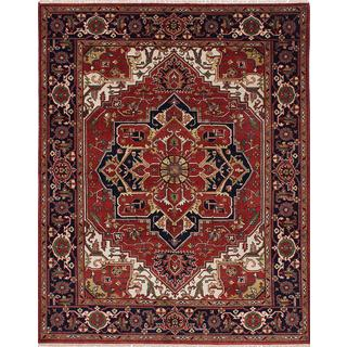 ecarpetgallery Hand-knotted Serapi Heritage Red Wool Rug (8'0 x 9'10)