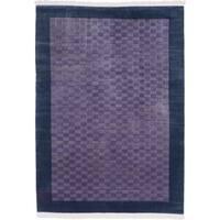 ecarpetgallery Hand-knotted Aurora Blue, Purple Wool Rug (5'6 x 7'7)