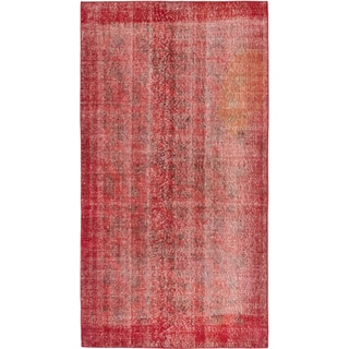 eCarpetGallery Red Wool Color Transition Hand-knotted Rug (3'10 x 7'2)