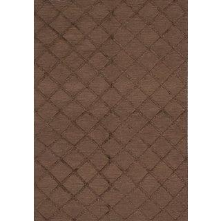 ecarpetgallery Hand-woven Cambridge Brown Art Silk Kilim (6'0 x 9'0)