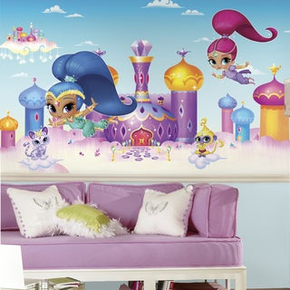 Shimmer and Shine Ultra-Strippable Chair Rail 6' x 10.5' Prepasted Mural
