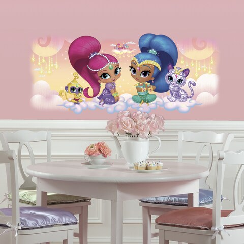 Roommates Shimmer and Shine Vinyl Burst Giant Wall Graphic