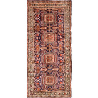ecarpetgallery Hand-knotted Ardabil Blue, Red Wool Rug (4'7 x 10'2)