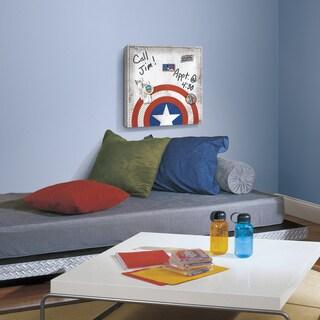 Roommates 'Captain America Shield' Multicolor Canvas Wall Art