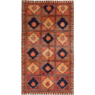 ecarpetgallery Hand-knotted Ardabil Brown Wool Rug (4'11 x 9'0)