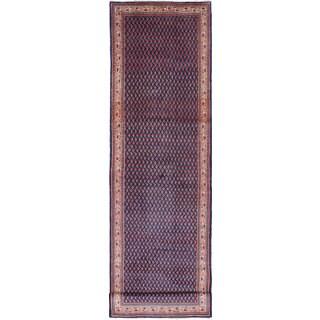 ecarpetgallery Hand-knotted Arak Blue Wool Rug (3'8 x 13'11)