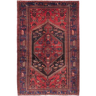 ecarpetgallery Hand-knotted Hamadan Red Wool Rug (4'7 x 7'0)