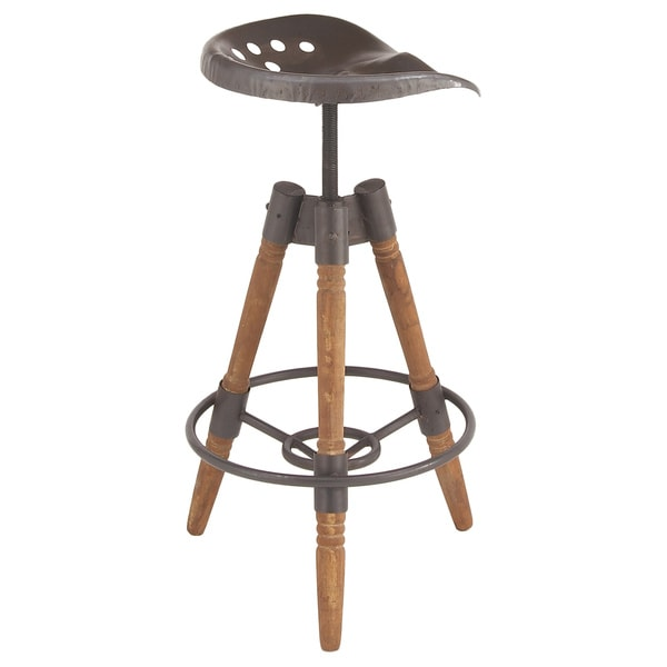 Shop Urban Designs Rustic Sturdy Wood Metal Bar Stool