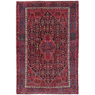 ecarpetgallery Hand-knotted Touserkan Blue, Red Wool Rug (4'8 x 7'1)