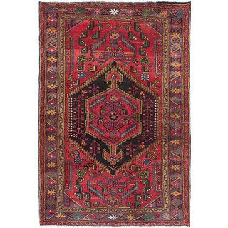 ecarpetgallery Hand-Knotted Hand-Knotted Touserkan Red Wool Rug (4'3 x 6'4)