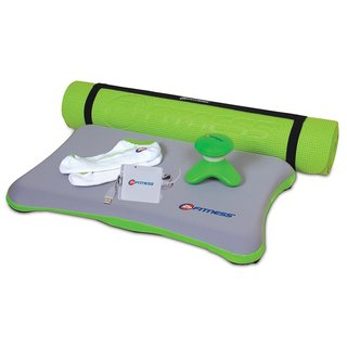 24 Hour Fitness 6.25 MM Yoga Mat Fitness Bundle for Nintendo Wii