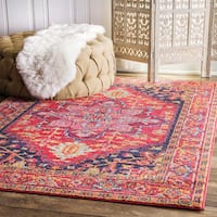 nuLOOM Persian Medallion Pink Rug (2' x 3') - 2' x 3'