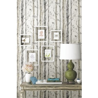 Roommates Birch Trees White/Brown Peel and Stick Wall Decal