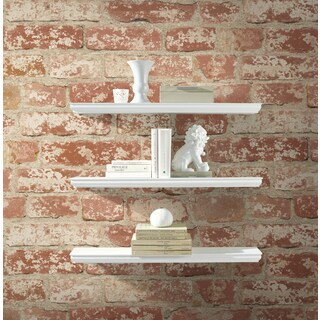 Stuccoed Red Brick Peel and Stick Wall Decor