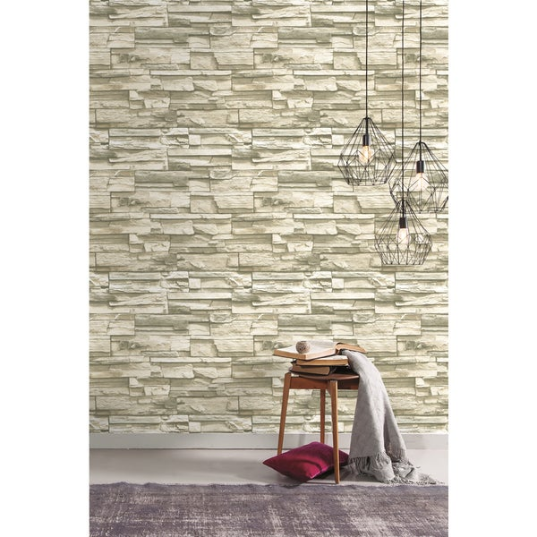 Natural Stacked Stone Peel and Stick Wall Decor - Free Shipping On ...