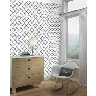 Modern Trellis Black Peel and Stick Wall Decor
