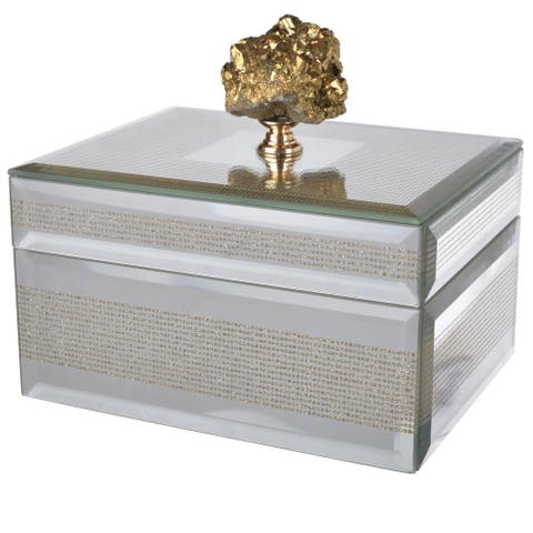 Mirrored Glass Decorative Box