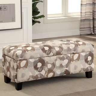 Furniture of America Giovanna Contemporary Linen-like Patterned Storage Bench