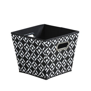 Tapered Black/ White Collapsible Grommet Bins (Set of 3)