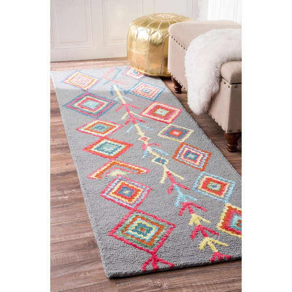 NuLOOM Contemporary Hand Tufted Wool Moroccan Triangle