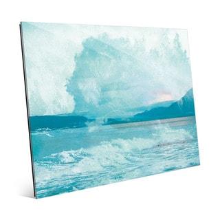 Turquoise Rush Wall Art on Glass