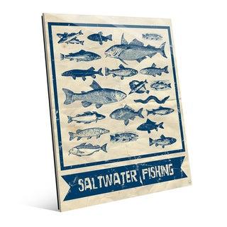 Saltwater Fishing Main Wall Art on Glass