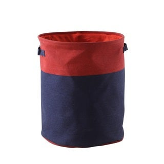 Red and Blue 2-tone Canvas Hamper