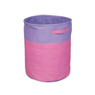 Pink and Purple Two-Tone Hamper with Handles