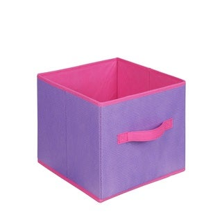 Purple/ Pink Collapsible Storage Cube (Set of 3)