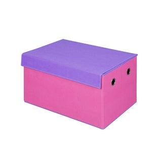 Pink and Purple Collapsible Storage Trunk