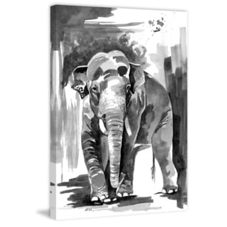 Marmont Hill - 'Asian Elephant' by Rachel Byler Painting Print on Wrapped Canvas