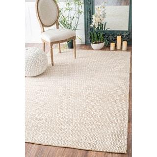 nuLOOM Natural Fiber Braided Jute/ Chenille Trellis Rug (8'6 x 11'6)