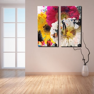 Link to Ready2HangArt 'Painted Petals LXXXVII' 2 Piece Canvas Wall Art Set Similar Items in Canvas Art