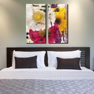 Ready2HangArt 'Painted Petals LXXXVI' 2 Piece Canvas Art Set