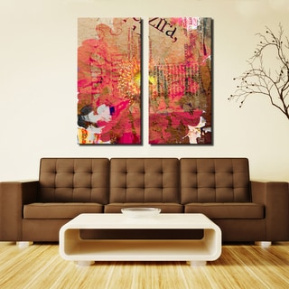 Ready2HangArt 'Painted Petals LXXXV' 2 PIECE Canvas Art Set