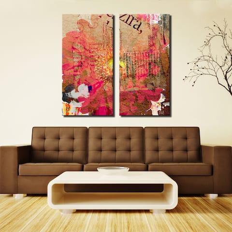 Ready2HangArt 'Painted Petals LXXXV' 2-Piece Canvas Wall Art Set