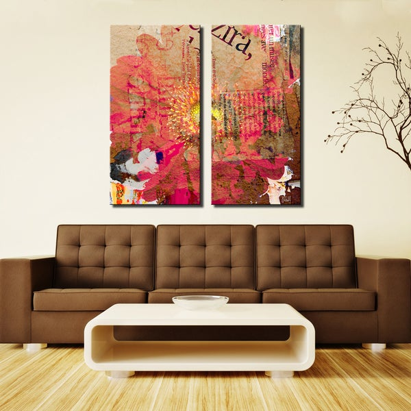 Ready2HangArt 'Painted Petals LXXXV' 2-Piece Canvas Wall Art Set. Opens flyout.