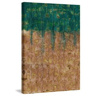 Marmont Hill - 'Gold Meadow' Painting Print on Wrapped Canvas