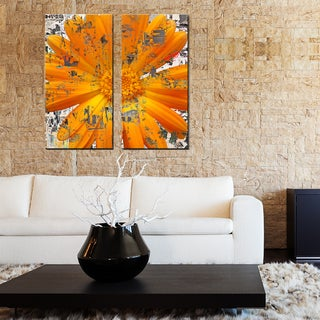 Ready2HangArt 'Painted Petals LXXVIII' 2 Piece Canvas Art Set