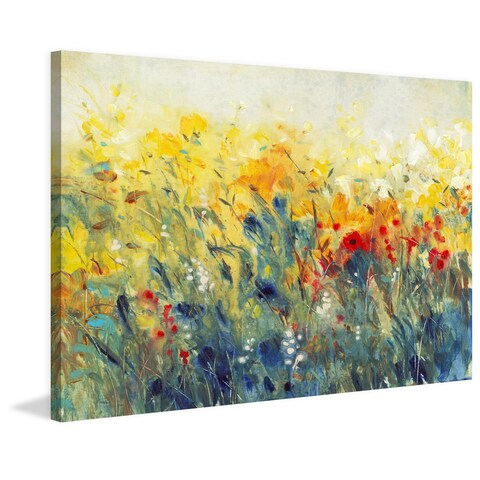 Marmont Hill - 'Flowers Sway I' Painting Print on Wrapped Canvas - Multi-color
