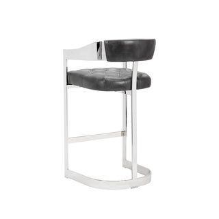 "Grey Leather Beaumont 30"" Barstool"