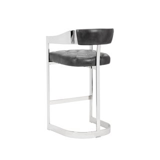 """Grey Leather Beaumont 30"""" Barstool"""