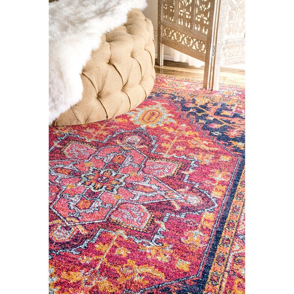 Nuloom Persian Medallion Pink Round Rug 5u0027 Round Free Shipping Today