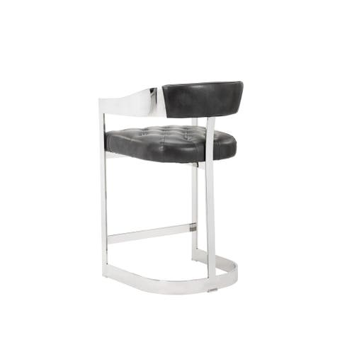 """Beaumont Grey Leather 26"""" Counter Stool"""