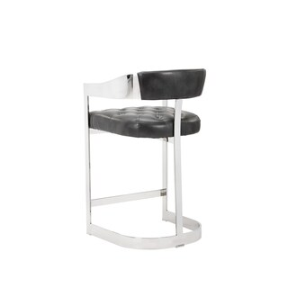 "Beaumont Grey Leather 26"" Counter Stool"