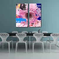 Ready2HangArt 'Painted Petals LXXV' 2 Piece Canvas Art Set